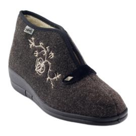 Befado obuwie damskie pu 031D027 brązowe 2