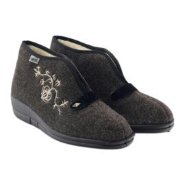 Befado obuwie damskie pu 031D027 brązowe 5