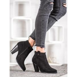 Ideal Shoes Casualowe Czarne Botki 5