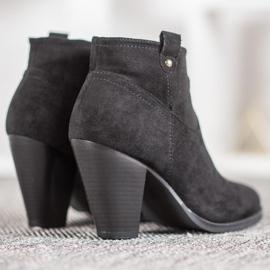 Ideal Shoes Casualowe Czarne Botki 2