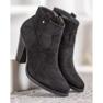 Ideal Shoes Casualowe Czarne Botki 3