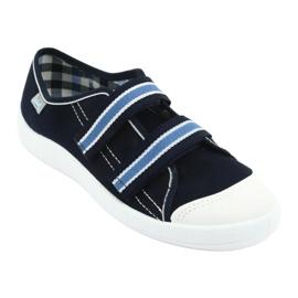 Befado obuwie dziecięce  672Y049 granatowe niebieskie 2