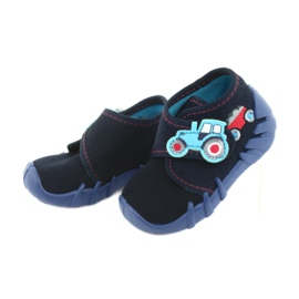 Befado obuwie dziecięce 523P009 granatowe 4