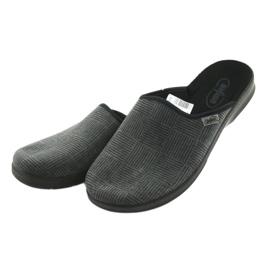 Befado obuwie męskie pu 548M014 czarne szare 3