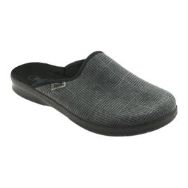 Befado obuwie męskie pu 548M014 czarne szare 1
