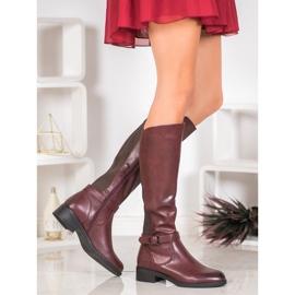 Ideal Shoes Klasyczne Oficerki czerwone 1