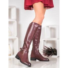 Ideal Shoes Klasyczne Oficerki czerwone 2