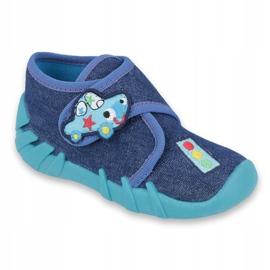 Befado obuwie dziecięce 523P015 granatowe niebieskie 1