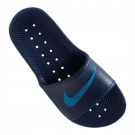 Klapki Nike Kawa Shower GS/PS Jr BQ6831-402 granatowe 2