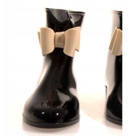 Kalosze Mieliski Z Kokardką Y014 Czarny czarne 2