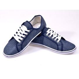 Jeansowe Trampki G1 Niebieski niebieskie 1