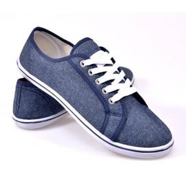 Jeansowe Trampki G1 Niebieski niebieskie 2