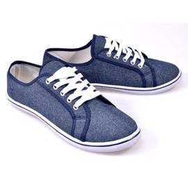 Jeansowe Trampki G1 Niebieski niebieskie 3