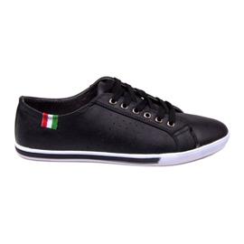 Trampki Z Flagą Włoch 380 Czarny czarne 2