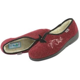 Befado obuwie damskie pu 940D355 czerwone 6