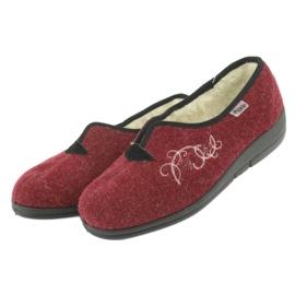 Befado obuwie damskie pu 940D355 czerwone 4