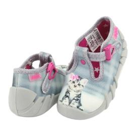 Befado kotek obuwie dziecięce 110P365 szare 3