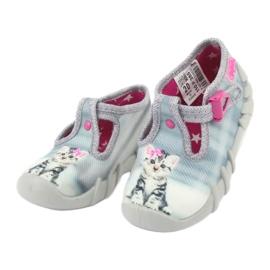 Befado kotek obuwie dziecięce 110P365 szare 2