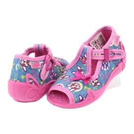 Befado różowe obuwie dziecięce 213P113 niebieskie 4