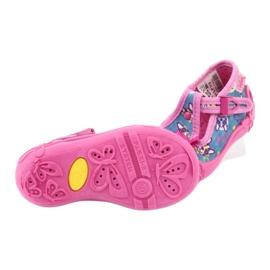 Befado różowe obuwie dziecięce 213P113 niebieskie 5