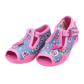 Befado różowe obuwie dziecięce 213P113 niebieskie 3