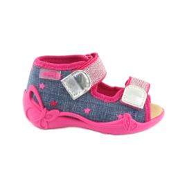 Befado obuwie dziecięce 242P084 różowe granatowe 1