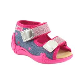 Befado obuwie dziecięce 242P084 różowe granatowe 2