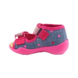 Befado obuwie dziecięce 242P084 różowe granatowe 3