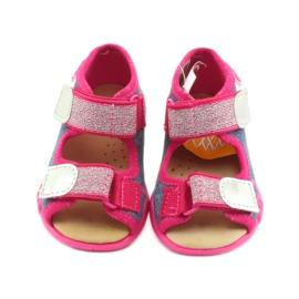 Befado obuwie dziecięce 242P084 różowe granatowe 4