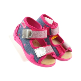 Befado obuwie dziecięce 242P084 różowe granatowe 5