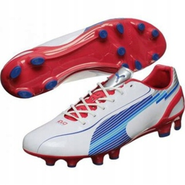 Buty piłkarskie Puma Evo Speed 1 Fg M 102527 01 białe biały 1