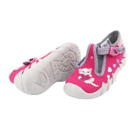 Befado obuwie dziecięce 110P335 różowe szare 6