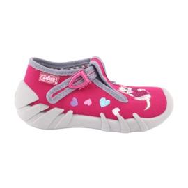 Befado obuwie dziecięce 110P335 różowe szare 2
