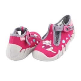 Befado obuwie dziecięce 110P335 różowe szare 5