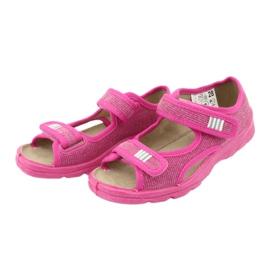 Befado obuwie dziecięce 113X009 różowe 5