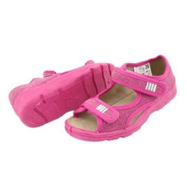 Befado obuwie dziecięce 113X009 różowe 7