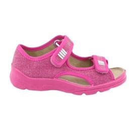 Befado obuwie dziecięce 113X009 różowe 1