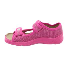 Befado obuwie dziecięce 113X009 różowe 4