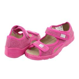 Befado obuwie dziecięce 113X009 różowe 6