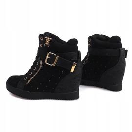 Sneakersy Na Koturnie 6227-Y Czarny czarne 1