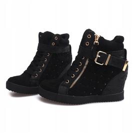 Sneakersy Na Koturnie 6227-Y Czarny czarne 4