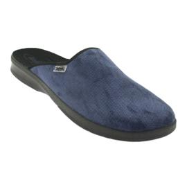 Befado obuwie męskie pu 548M018 niebieskie 2