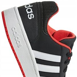 Buty adidas Hoops 2.0 Jr B76067 czarne czerwone 1