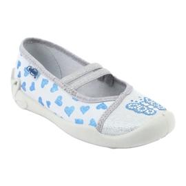 Befado serduszka obuwie dziecięce 116X267 niebieskie szare 1