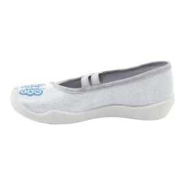Befado serduszka obuwie dziecięce 116X267 niebieskie szare 2