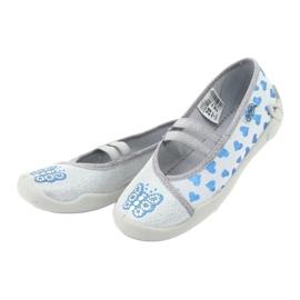 Befado serduszka obuwie dziecięce 116X267 niebieskie szare 3