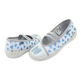 Befado serduszka obuwie dziecięce 116X267 niebieskie szare 4