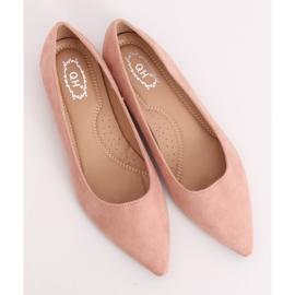 Baleriny w szpic różowe A822 Pink 5