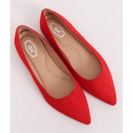 Baleriny w szpic czerwone A822 Red 3