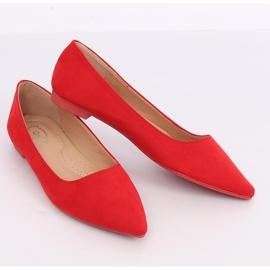 Baleriny w szpic czerwone A822 Red 4